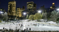 Stock Video Footage of NYC Ice skating - Wollman Rink