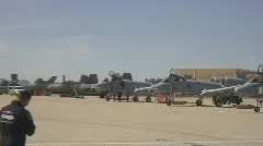 A-10 lineup on the tarmac - stock footage
