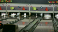Stock Video Footage of Playing ten pin bowling 1
