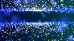 Particle Title Plate Blue And Tan BG Loop Stock Footage