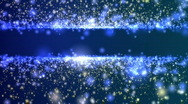 Stock Video Footage of Particle Title Plate Blue And Tan BG Loop
