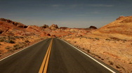 Stock Video Footage of Red Rock Nevada Time Lapse Drive