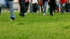 Students Running for Physical Education Stock Footage