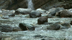 CU of a Stream in the Canadian Rockies Stock Footage