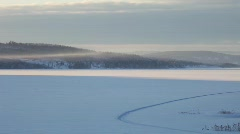 Frozen fjord. Baltic Sea, Sweden. Stock Footage