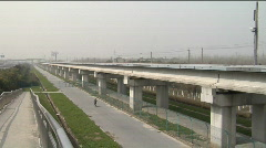 World's fastest train in Shanghai Stock Footage