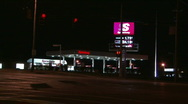 Stock Video Footage of Gas Station at Night
