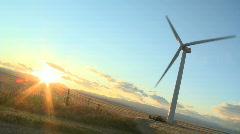 WS of Prairie Windmill (Tilt) Stock Footage