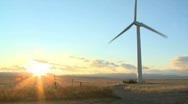 WS of Prairie Windmill Vertical Stock Footage
