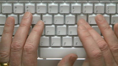 Male hands on computer keyboard  Stock Footage