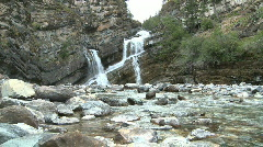 WS of Cameron Falls Waterton Park, Canada - stock footage