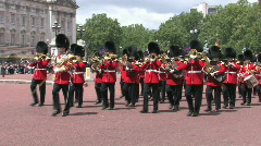 Buckingham Palace Changing of the guard - stock footage