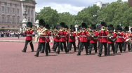 Buckingham Palace Changing of the guard Stock Footage