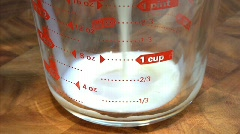 Measuring cup 01 Stock Footage