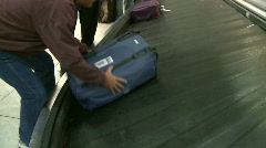 Airport baggage claim 9 - stock footage