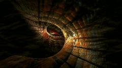 Slow zoom in of animal eyes fractal Stock Footage