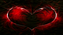 Red heart with a spiral wave background Stock Footage