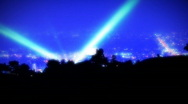 Stock Video Footage of Hollywood Search Lights Time-lapse, Glow