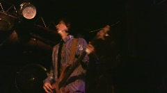 Guitarist in night club Stock Footage