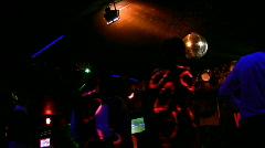 Dancing people in night club Stock Footage