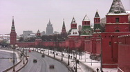 Stock Video Footage of Kremlin wall and towers in Moscow
