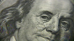 Stock Video Footage of Person on dollar banknote rotating