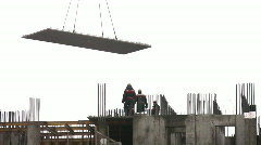 Montage of plate at construction of building Stock Footage