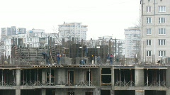 Construction of building. Time lapse - stock footage
