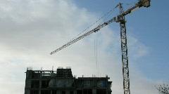 construction crane time lapse - stock footage