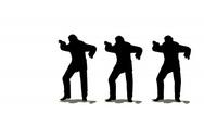 Stock Video Footage of three businessmen dancing