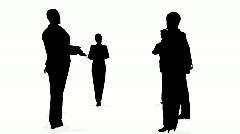 People consultation silhouette Stock Footage