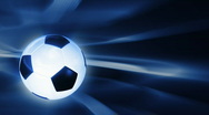 Stock Video Footage of Soccer ball rotating with abstract background,seamless loop