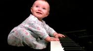 Emotional baby composer (loop) Stock Footage