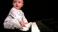 Emotional baby composer Stock Footage