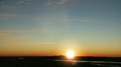 Midwestern Magic Hour Time-lapse Stock Footage