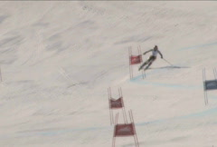 Slalom Skiing Stock Footage
