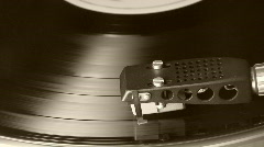 Turntable, vinyl player Stock Footage