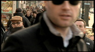 People walking on sidewalk in new york city Stock Footage