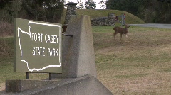 Deer Park Sign Stock Footage