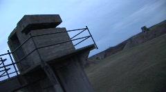 Dutch Tilt Guard Tower Stock Footage