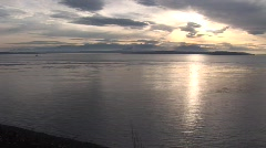 WS sunset Pacific NW - stock footage