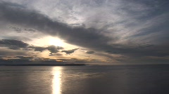WS sunset SKY Stock Footage