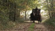 Cart and horses - Shooting historical movie making-of Stock Footage