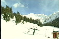 Busy Ski resort wide - stock footage