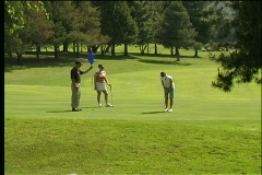 Golfing threesome Stock Footage