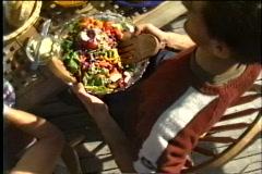 Picnic abundance of food  - stock footage