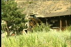 Rustic Waterwheel - stock footage