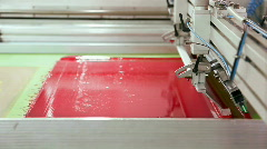 Stock Video Footage of Screen printing