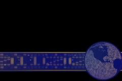 Globe10 Lowerthird - stock footage
