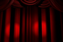 Stage Red Curtains Lights - stock footage